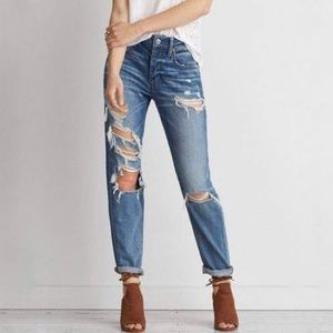 American Eagle Outfitters Ripped Tomgirl Jeans